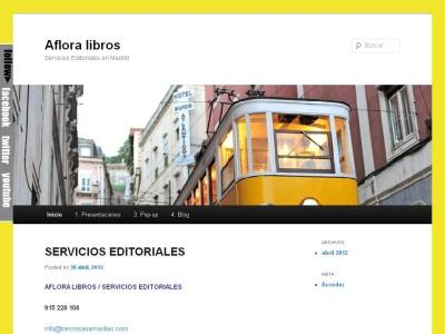 Aflora libros - Servicios editoriales en Madrid