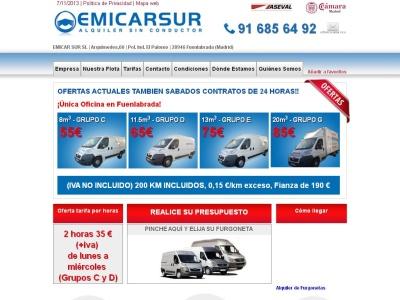 Alquiler de furgonetas en madrid sur y Fuenlabrada