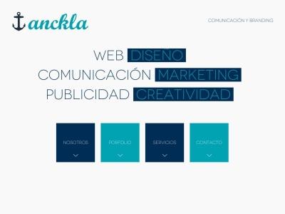 Anckla Comunicacion, diseño web alicante
