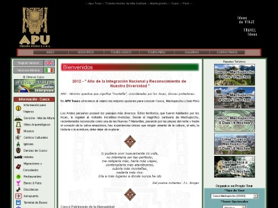 Apu Tours Per�, Tours en Cusco y Machpicchu