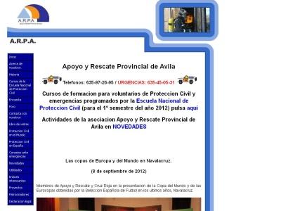 Asociaci�n apoyo y rescate provincial de �vila.