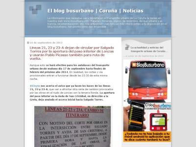 Blog busurbano del transporte público de La Coru?a