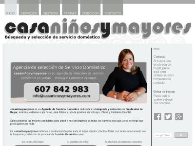 CASANIÑOSYMAYORES | Agencia de Servicio Doméstico | Empleadas de hogar