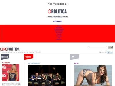 CeroPol�tica - Portal # 1 de Entretenimiento