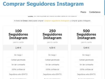 Comprar seguidores en Instagram