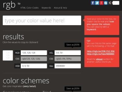 Convertir colores a RGB y otros formatos gratis