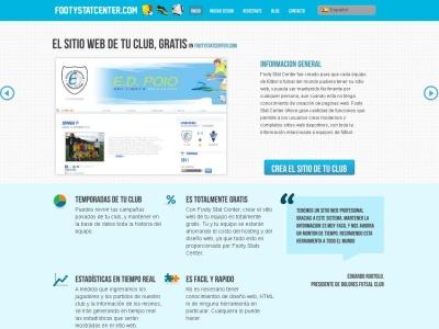 Crea el sitio web de tu equipo de futbol o Futsal.