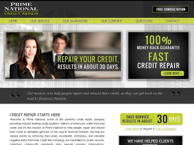 Credit Repair by Prime National - Fast 30 Day Service