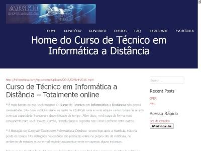 Curso T�cnico em Inform�tica ? Dist�ncia