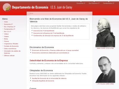 Departamento de Econom�a. IES Juan de Garay