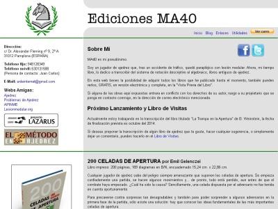 Ediciones MA40 - Libros clásicos de ajedrez