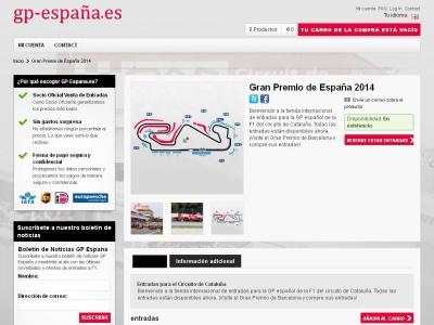 entradas para el Gran Premio de Espana