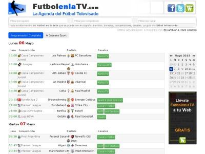 Fútbol en la tele