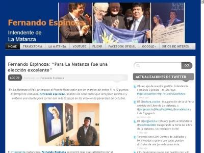 Fernando Espinoza - Intendente de La Matanza