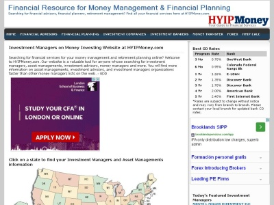 Find banks, investment companies and all financial related services