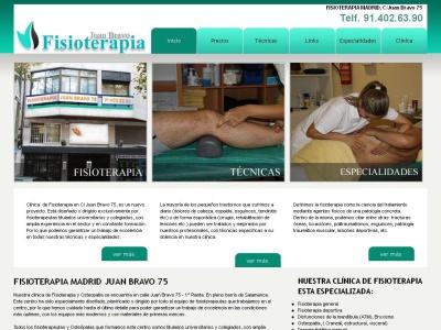 Fisioterapia Madrid Juan Bravo 75