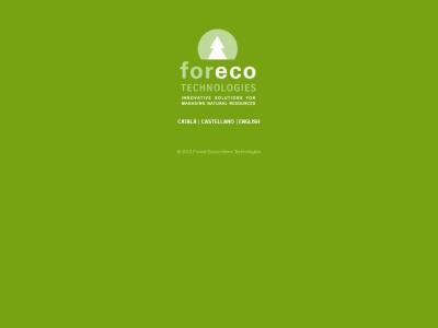 ForEcoTechnologies, simulaci�n y gesti�n forestal