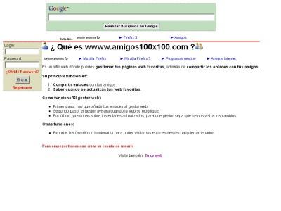 Gestor web de contactos , amigos Y links.