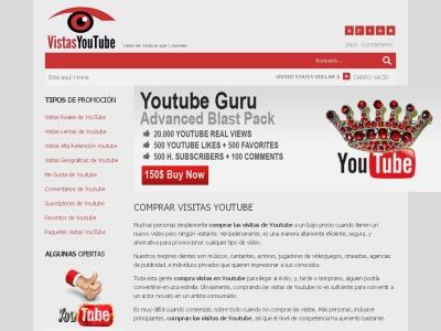 gran gama de visitas de Youtube