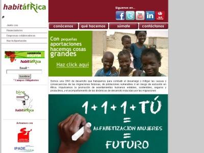 Habit�frica contra la pobreza en �frica