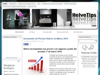 Helvetips, tips sobre productos Helvex