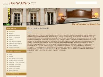 Hostal Alfaro situado en el centro de Madrid