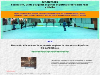 ICE-MATOSES:Venta y Alquiler de pistas de hielo