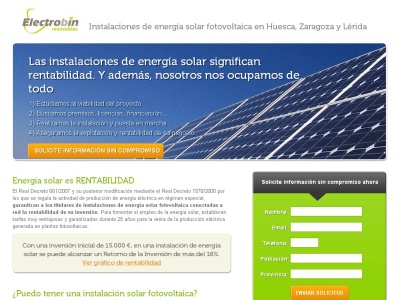 Instalaci�n de energ�a solar fotovoltaica