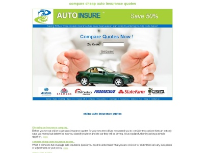 instant free online auto insurance quotes