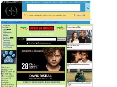 Iterelectron.es programas, webcams online, radios, chats, juegos gratis, frases