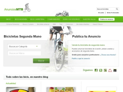 La web de compra-venta del ciclista