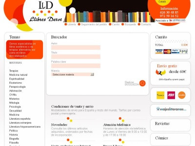 Llibres Detot. Librería virtual especializada.