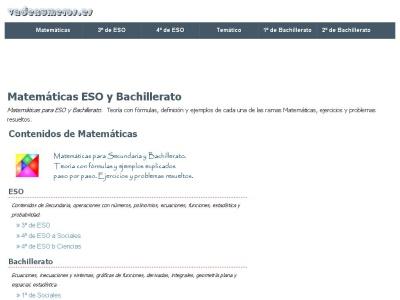 Matem�ticas: ESO, Bachillerato y Selectividad.
