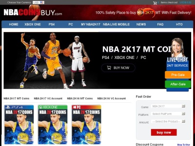 NBA 2K17 Coins For Sale