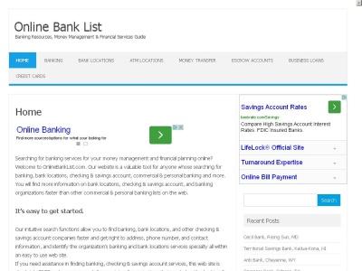 Online Bank List