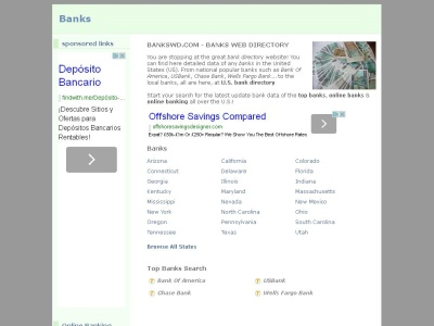 online banks directory