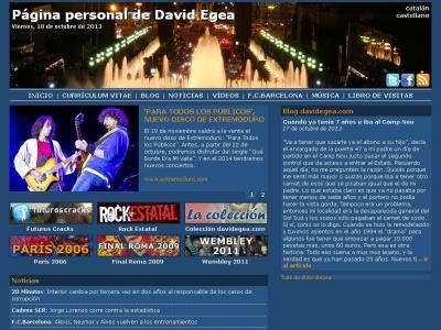 P�gina personal de David Egea - davidegea.com