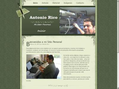 PAgina Personal de Antonio Rico