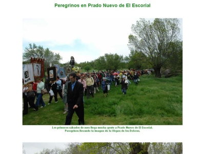 Peregrinos en Prado Nuevo de El Escorial