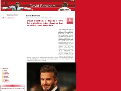 Photos Beckham, sitio NO oficial de DAvid Beckham