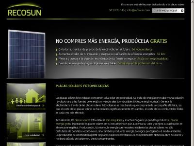 Placas fotovoltaicas Recosun
