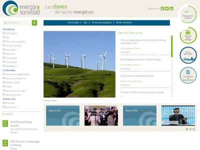 Portal relacionado con el sector energético