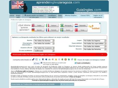 Profesores y Academias de ingl�s en Zaragoza