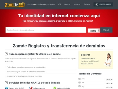 Registro de Dominios y Hosting Web