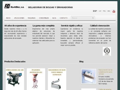 ROVEBLOC: Maquinaria de envasado y embalaje