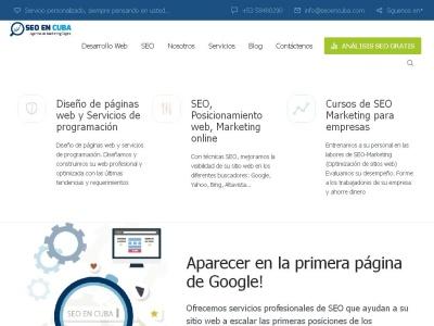 Seo en Cuba: marketing, diseño y programación web optimizada