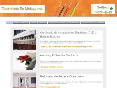 Servicios de electricista en Málaga