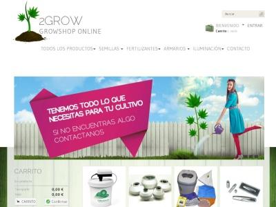 www.2-grow.es 2Growshop. Tu growshop online